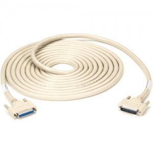 Black Box RS232 DBL Shielded Cable W/ Metal Hood 25 Cond DB25M/F 25Ft EMN25C-0025-MF