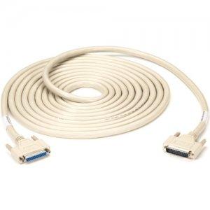 Black Box RS232 DBL Shielded Cable W/ Metal Hood 25 Cond DB25M/F 75Ft EMN25C-0075-MF
