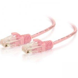 C2G 5ft Cat6 Snagless Unshielded (UTP) Slim Ethernet Network Patch Cable - Pink 01192