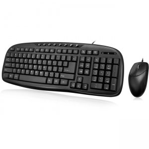 Adesso EasyTouch Desktop USB Multimedia Keyboard and Mouse Combo AKB-133CB