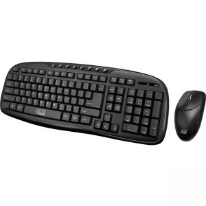 Adesso 2.4 GHz Wireless Desktop Keyboard and Mouse Combo WKB-1330CB