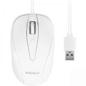 Macally 3 Button Optical USB Wired Mouse for Mac and PC TURBO