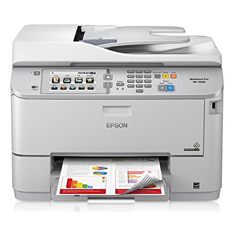 Epson WorkForce Pro WF-5690 Inkjet Multifunction Printer - Color - Plain Paper Print - Desktop C11CD14201 WF-5690 WF-5690