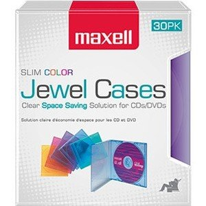 Maxell Jewel Cases Slim Line - Color (30 Pack) 190153