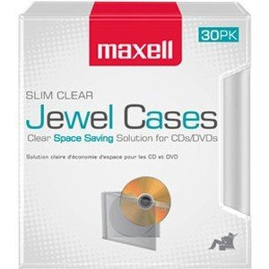 Maxell Jewel Cases Slim Line - Clear (30 Pack) 190159