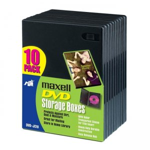 Maxell DVD-JC10 DVD Storage Boxes 190801