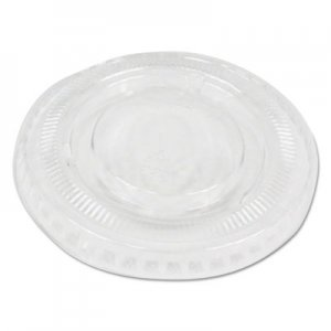 Boardwalk Souffle/Portion Cup Lids, Fits 2 oz Portion Cups, Clear, 2500/Carton BWKPRTLID2