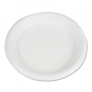 "Boardwalk Hi-Impact Plastic Dinnerware, Plate, 6"" Diameter, White, 1000/Carton BWKPLTHIPS6WH"