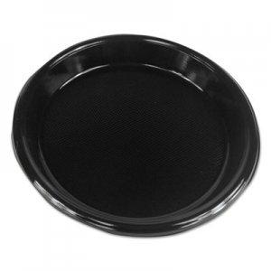 "Boardwalk Hi-Impact Plastic Dinnerware, Plate, 10"" Diameter, Black, 500/Carton BWKPLHIPS10BL PLHIPS10BL"