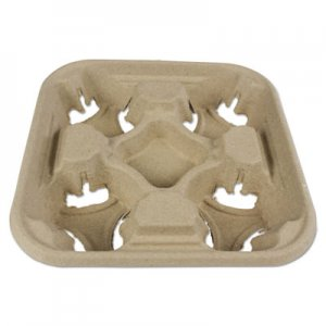 Boardwalk Cup Tray, 8-32 oz, Four Cups, 300/Carton BWK4CUPCARRIER