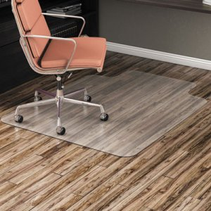 """Alera Non-Studded Chair Mat for Hard Floor, 45"""" x 53"""", with Lip, Clear ALEMAT4553HFL CM2E232ALEPL"""