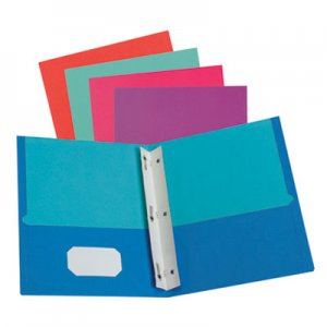 Oxford Twisted Twin Smooth Pocket Folder w/Fasteners, Letter, Assorted, 10/PK, 20 PK/CT OXF51276 51276