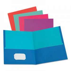 Oxford Twisted Twin Textured Pocket Folders, 8 1/2 x 11, Assorted, 10/PK, 20 PK/CT OXF51274 51274EE