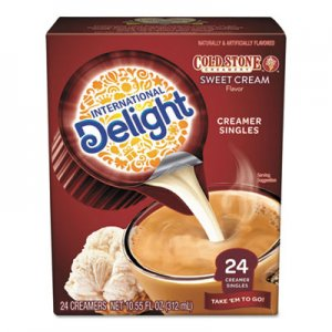 International Delight Flavored Liquid Non-Dairy Creamer, Coldstone Sweet Cream, Mini Cups, 24/Box ITD102579 WWI01757