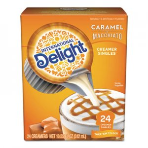 International Delight Flavored Liquid Non-Dairy Coffee Creamer, Caramel Macchiato, Mini Cups, 24/Box ITD101766 WWI101766