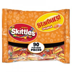 Wrigley's Skittles/Starburst Fun Size, Variety, Individually Wrapped SKT34777 WMW34777