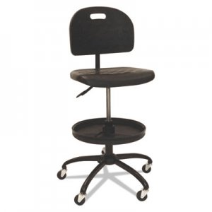 "ShopSol Workbench Shop Chair, 28.5"" Seat Height, Supports up to 300 lbs., Black Seat/Black Back, Black Base SSX1010301"