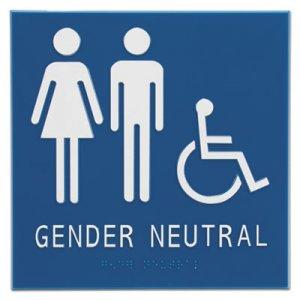 "Advantus Gender Neutral ADA Signs, 8"" x 8"", Man, Woman & Wheelchair AVT97079 97079"