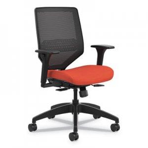 HON Solve Series Mesh Back Task Chair, Supports up to 300 lbs., Bittersweet Seat, Black Back, Black Base HONSVM1ALC46TK SVM1ALC46TK