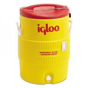 igloo Industrial Water Cooler, 10 gal, Yellow/Red IGL4101 4101