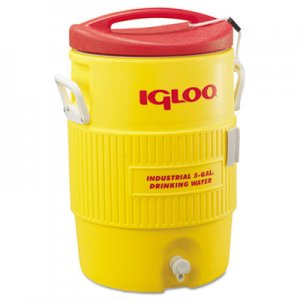igloo Industrial Water Cooler, 5 gal, Yellow/Red IGL451 451