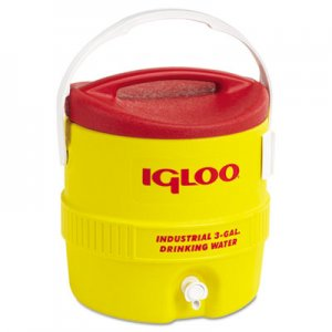 igloo Industrial Water Cooler, 3 gal, Yellow Red IGL431 431