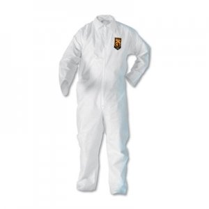 KleenGuard A20 Breathable Particle Protection Coveralls, Zip Closure, 2X-Large, White KCC49105 417-49105