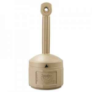 JUSTRITE Smokers Cease-Fire Receptacle, Adobe Beige JUS26800B 26800B