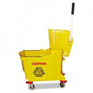 Magnolia Brush Mop Bucket/Wringer Combo, Plastic, Yellow MNL60353 6035-3