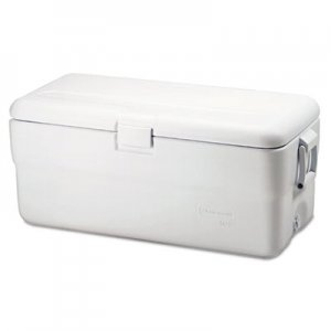 Rubbermaid Marine Series Ice Chest, 102qt, White RUBFG198200TRWH FG198200TRWHT