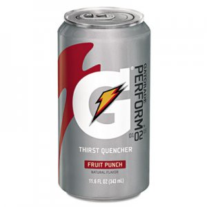 Gatorade Thirst Quencher Can, Fruit Punch, 11.6oz Can, 24/Carton GTD30903 30903