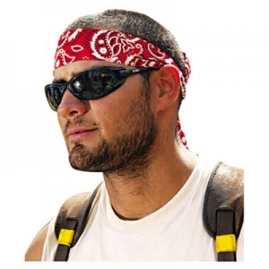 Ergodyne Chill-Its 6700/6705 Bandana/Headband, One Size Fits All, Red Western EGO12305 12305