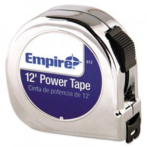 "Empire Power Tape Measure, 5/8"" x 12ft, Black Case EML612 612"