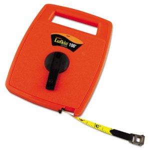 Lufkin Hi-Viz Linear Measuring Tape Measure, 1/2in x 100ft, Orange, Fiberglass Tape LUF706D 706D