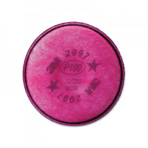 3M Particulate Filter 2097/07184/P100, Nuisance Level Organic Vapor Relief, 2/Pack MMM2097 70070710945
