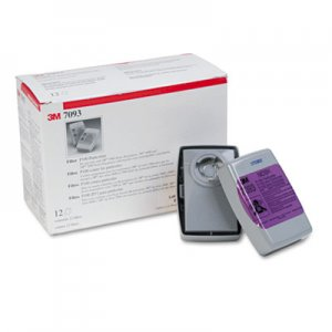 3M Particulate Filter 7093, P100, 12/Box MMM7093 70071042223