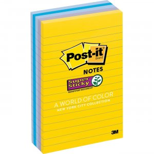 Post-it New York Collection Post-it Super Sticky Notes 6605SSNY MMM6605SSNY