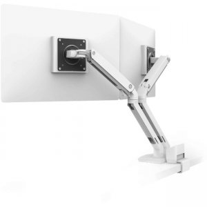 Ergotron Desk Dual Monitor Arm with Top Mount C-Clamp 45-530-216 MXV