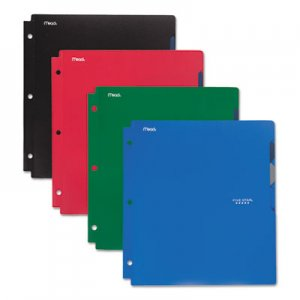 Five Star Quick-View Plastic Folder, 20 Sheets, 8 1/2 x 11, Assorted, Traditional, 4/Set MEA73272 73272