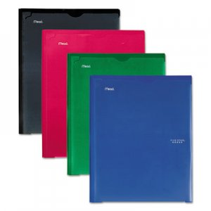 Five Star Customizable Pocket/Prong Plastic Folder, 20 Sheets, 8 1/2 x 11, Assorted, 4/Set MEA38133 38133