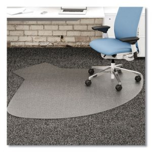 deflecto SuperMat Frequent Use Chair Mat, Medium Pile Carpet, 60 x 66, L-Shape, Clear DEFCM14002K CM14002K