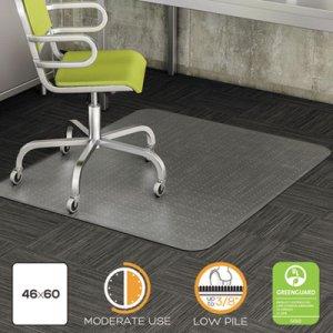 deflecto DuraMat Moderate Use Chair Mat, Low Pile Carpet, Roll, 46 x 60, Rectangle, CR DEFCM13443FCOM CM13443FCOM