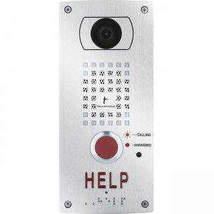 Talk-A-Phone Flush Mount IP Video Help Station VOIP-200H3