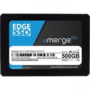 "EDGE 500GB 2.5"" eMerge 3D-V SSD - SATA 6Gb/s PE255046"