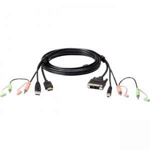 Aten 1.8M USB HDMI to DVI-D KVM Cable with Audio 2L7D02DH