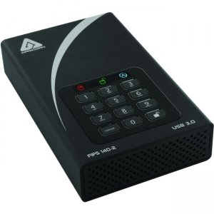 Apricorn Aegis Padlock DT FIPS - USB 3.0 Desktop Drive ADT-3PL256F-12TB