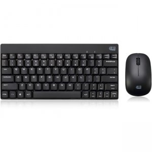 Adesso Wireless Spill Resistant Mini Keyboard & Mouse Combo WKB-1100CB