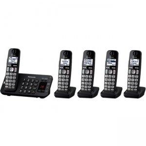 Panasonic Expandable Cordless Phone with Enhanced Noise Reduction - 5 Handsets KX-TGE445B