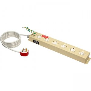 Tripp Lite UK BS-1363 Medical-Grade Power Strip with 6 UK Outlets, 3m Cord PS610HGUK