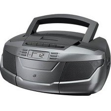 GPX Boombox with CD, Cassette & AM/FM Radio BCA206S
